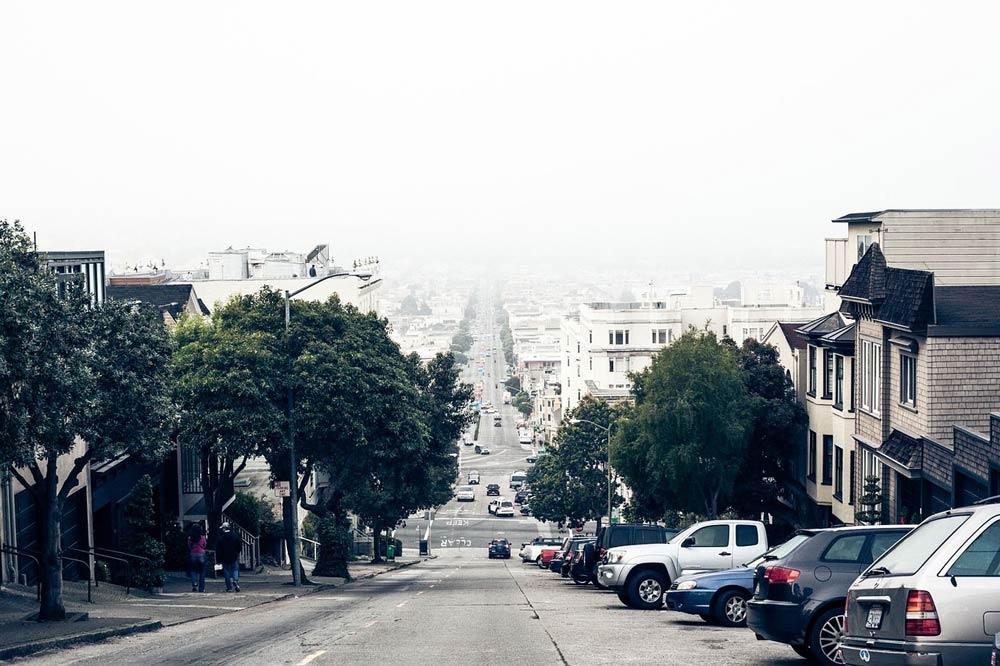 calle con mucha pendiente