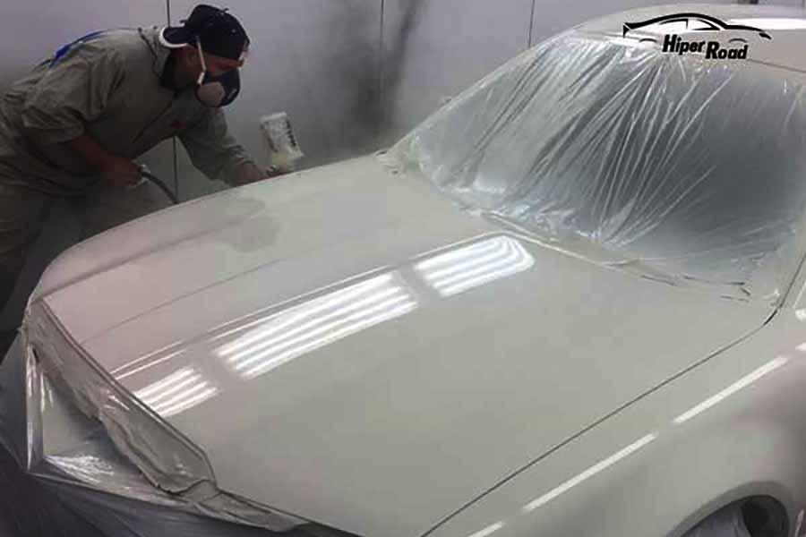 pintura coche blanco
