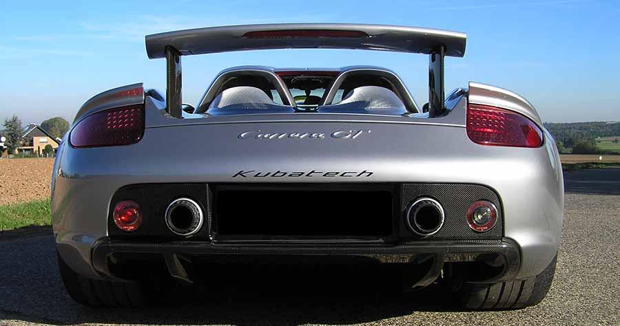 Porsche Carrera GT kubatech gris descapotable
